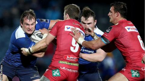 Jonathan Evans and Aaron Shingler were injured in Scarlets' Pro14 final defeat to Leinster