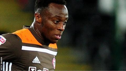 Moses Odubajo in action for Brentford
