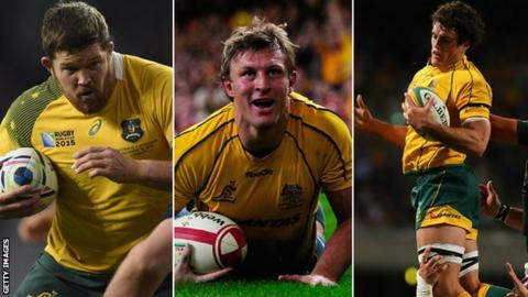 Greg Holmes, Lachie Turner and Dave Dennis