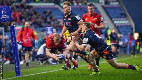 Keith Earls crossed with 10 minutes remaining to edge Munster through