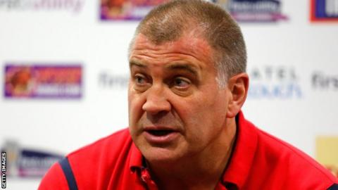 Shaun Wane addresses the media