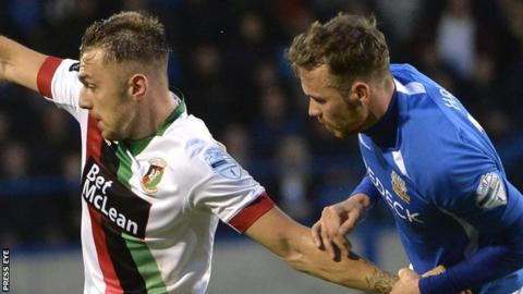 Glenavon and Glentoran played out a 1-1 draw at Mourneview Park on 9 August