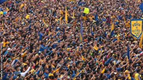 Tigres fans flocked to the Explanada de los Héroes in Monterrey to celebrate their title