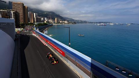 Daniel Ricciardo in action at the Monaco Grand Prix