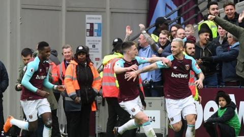 Marko Arnautovic celebrates goal