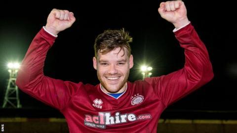 Linlithgow Rose's Kevin Kelbie celebrates