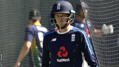 England captain Joe Root in training