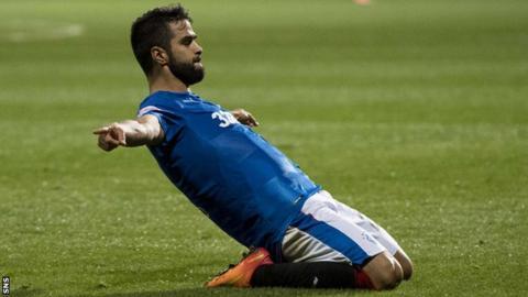 Rangers winger Daniel Candeias