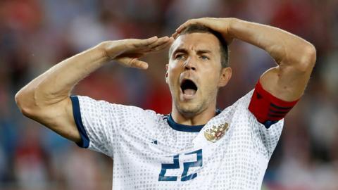 Artem Dzyuba celebrates
