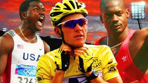 Justin Gatlin, Lance Armstrong and Ben Johnson