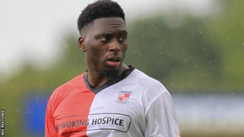 Inih Effiong in action for Woking
