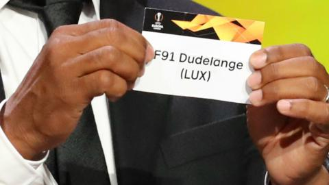 Luxembourg champions F91 Dudelange are drawn in the same group as AC Milan in the Europa League