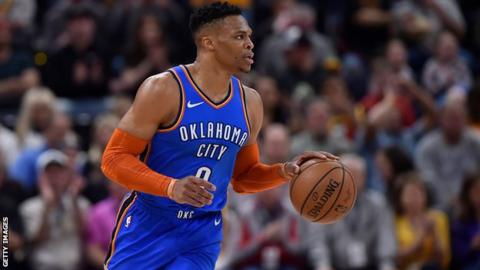 Russell Westbrook and fans get into verbal altercation during Jazz game