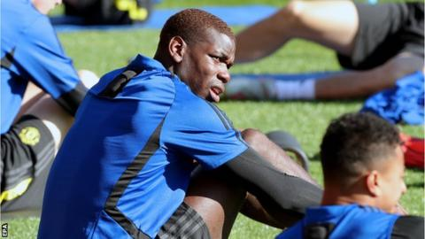 Paul Pogba during Manchester United training in Australia