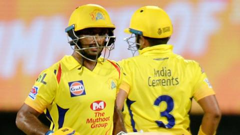 Chennai Super Kings' Ambati Rayudu and Suresh Raina