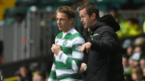 Scott Allan (left) and Ronny Deila