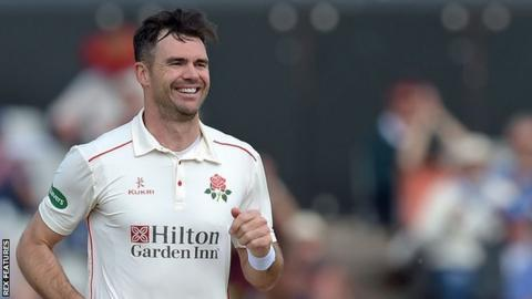 England's James Anderson ended with match figures of 9-47