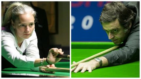 Reanne Evans and Ronnie O'Sullivan