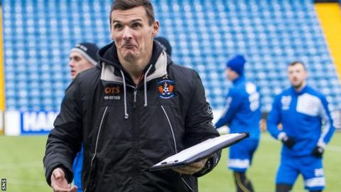 Kilmarnock caretaker Lee McCulloch takes training