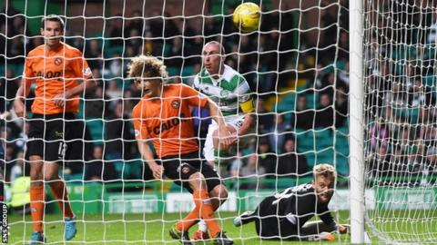 Dundee United were thumped 5-0 at Celtic Park