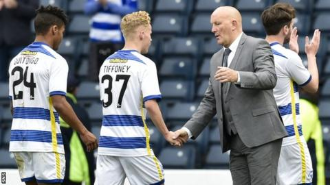 Morton players with Jim Duffy