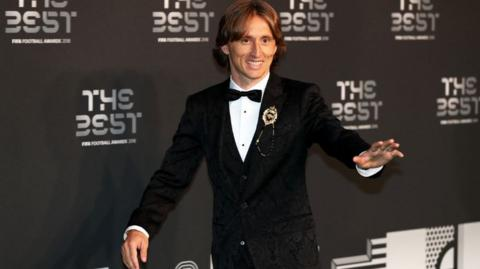 Luka Modric at the Best Fifa Football Awards