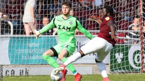Morias scored six goals last season for Northampton Town in League Two
