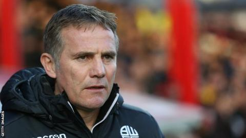 Phil Parkinson has led Bolton to six wins from 32 Championship games so far this season