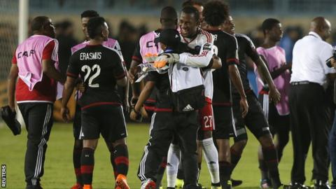 Orlando Pirates players celebrate