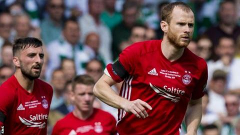 Mark Reynolds in action for Aberdeen