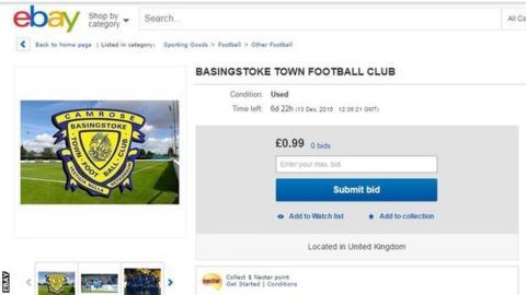 Basingstoke Town eBay listing