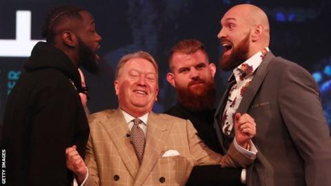 Wilder and Fury face off