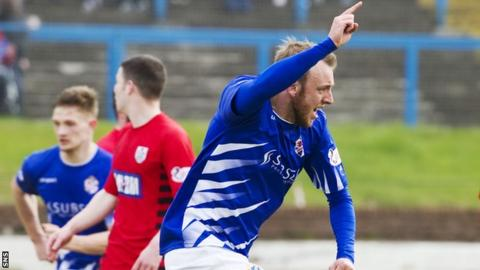 Greig Spence celebrates his goal