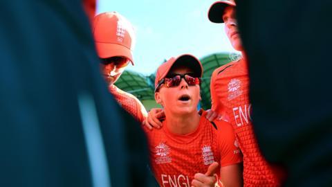 England team huddle