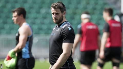 Tommy Seymour in Warriors training