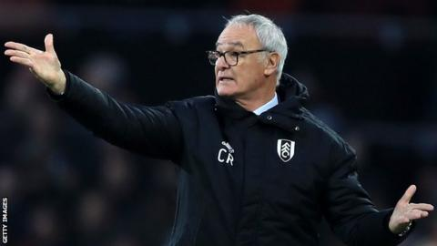 Claudio Ranieri sacked as Fulham manager. Scott Parker installed as caretaker