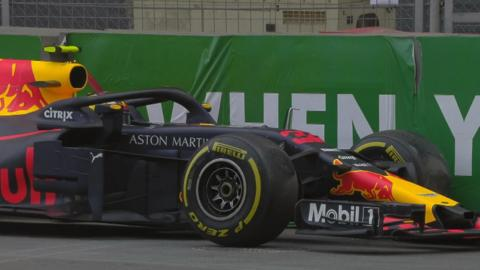 Max Verstappen crashes