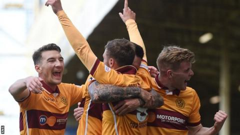 Louis Moult had Motherwell 3-0 up after 21 minutes
