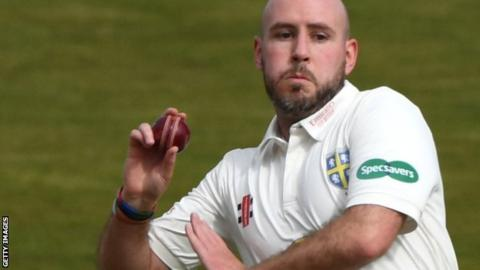 Chris Rushworth's 22nd first-class five-wicket haul was his first at New Road