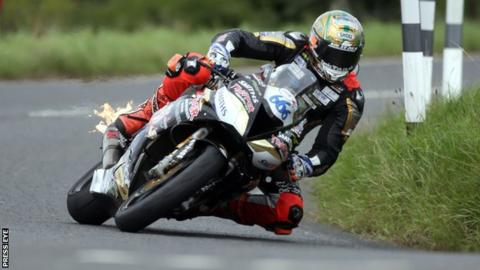 Peter Hickman produced some thrilling riding in Saturday's shortened meeting at Dundrod