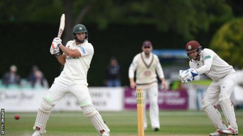 Ross Whiteley batting against Surrey