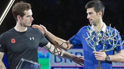 Andy Murray and Novak Djokovic