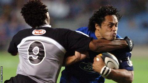 Ben Atiga in action for Auckland Blues