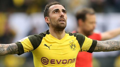 Borussia Dortmund forward Paco Alcacer