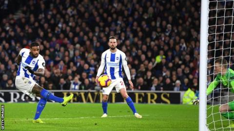 brighton hove albion 1 0 everton locadia strike proves decisive for hosts
