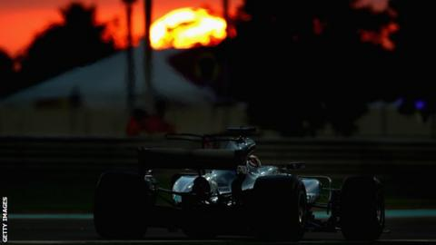Mercedes F1 driver Lewis Hamilton in action at the Abu Dhabi Grand Prix