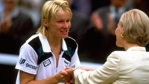 Jana Novotna and the Duchess of Kent