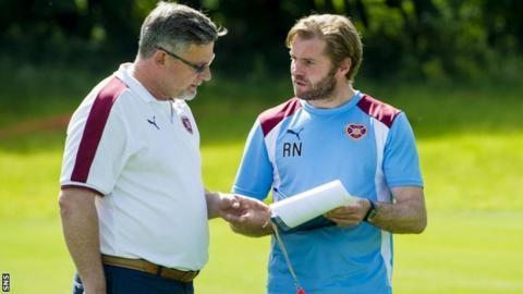 Hearts' director of football Craig Levein and head coach Robbie Neilson
