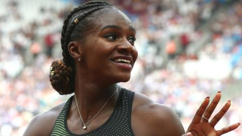 Britain's Dina Asher-Smith at the London Anniversary Games