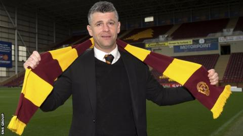 New Motherwell manager Stephen Robinson